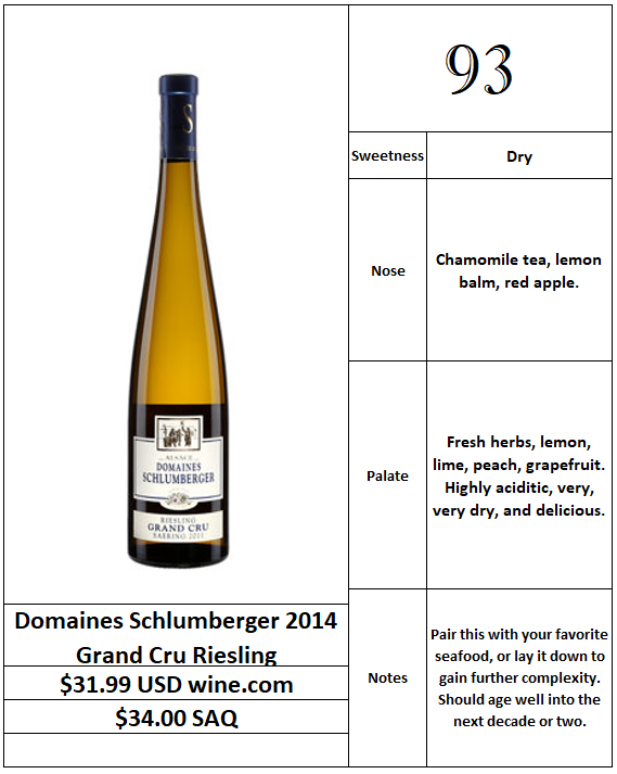 Domaines Schlumberger 2014 Grand Cru Riesling.PNG