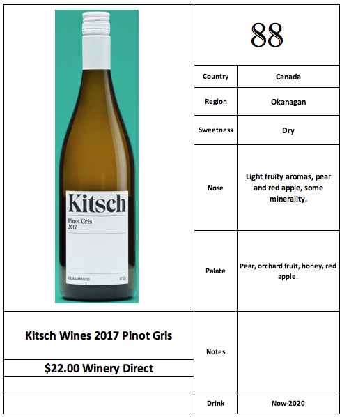 Kitsch Wines 2017 Pinot Gris