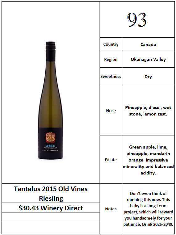 Tantalus 2015 Old Vines Riesling