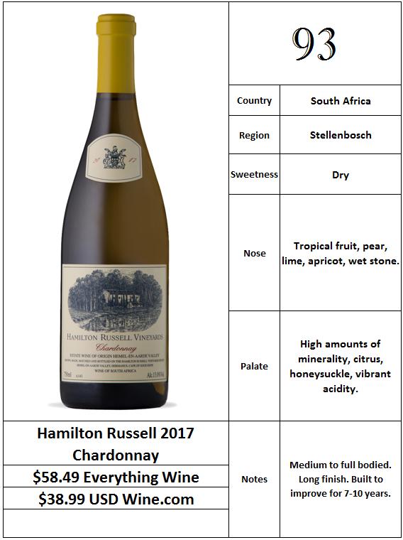 Hamilton Russell 2017 Chardonnay
