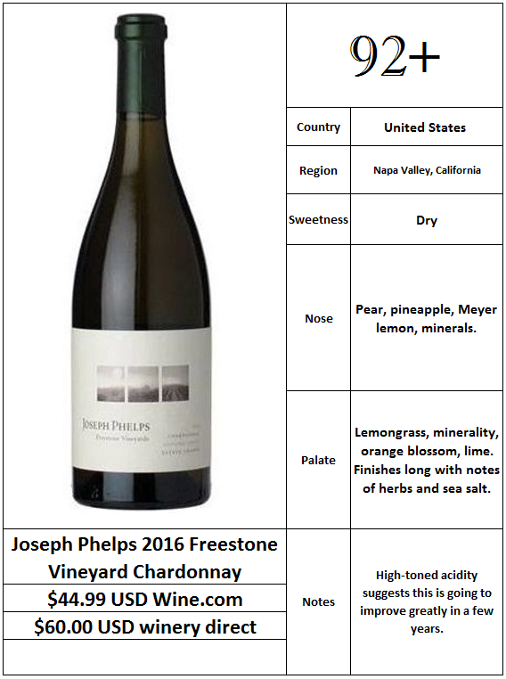 Joseph Phelps 2016 Freestone Vineyard Chardonnay.PNG