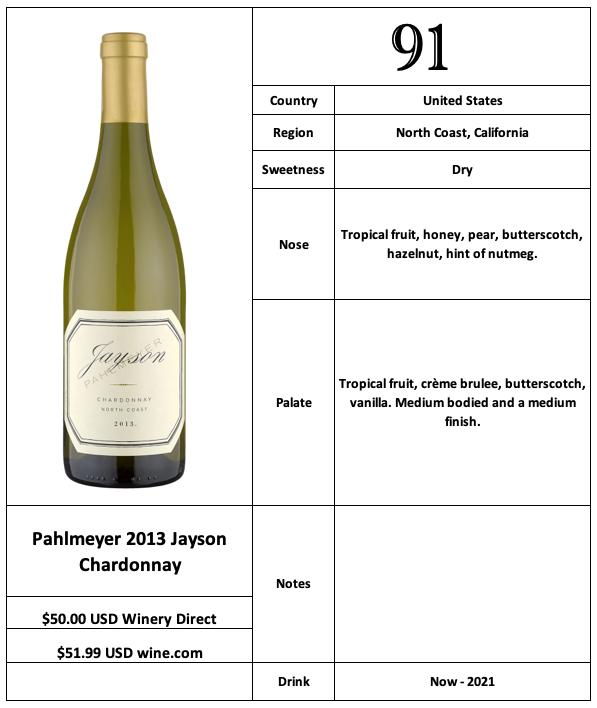 Pahlmeyer 2013 Jayson Chardonnay
