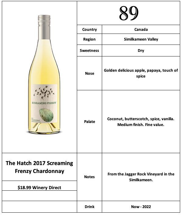 The Hatch 2017 Screaming Frenzy Chardonnay