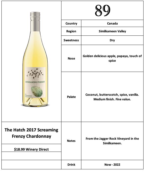The Hatch 2017 Screaming Frenzy Chardonnay