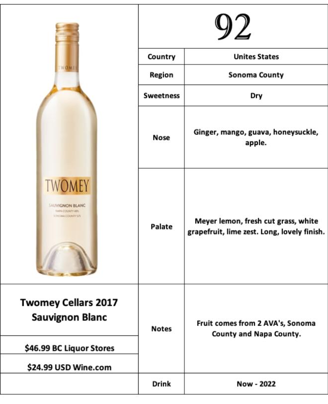 Twomey Cellars 2017 Sauvignon Blanc