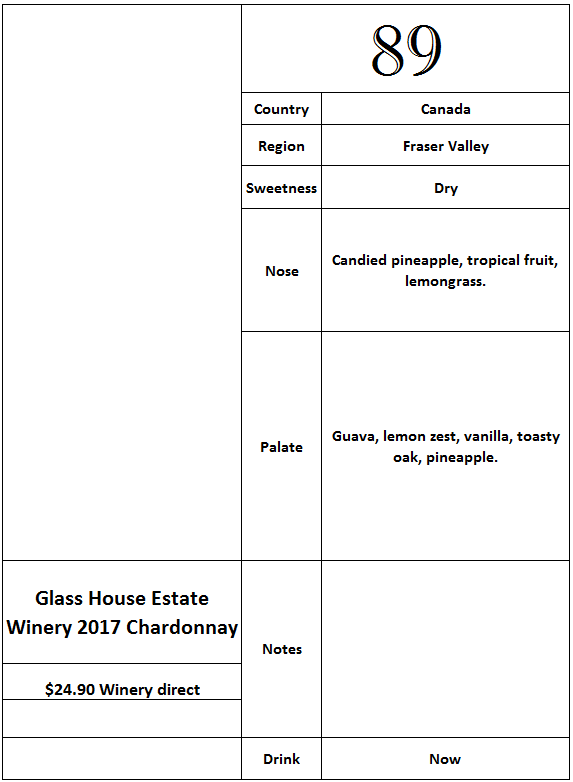 Glass House Estate Winery 2017 Chardonnay