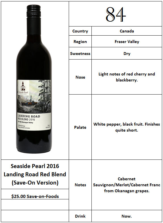 Seaside Pearl 2016 Landing Road Blend SaveOnFoods version