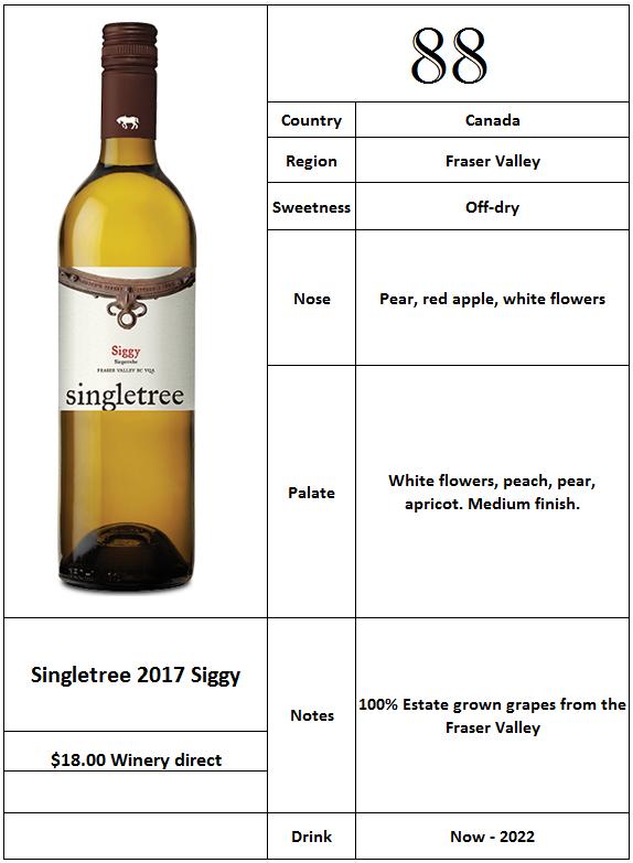 Singletree 2017 Siegerrebe