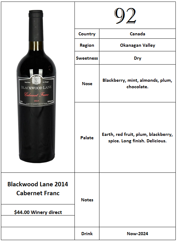 Blackwood Lane 2014 Cabernet Franc