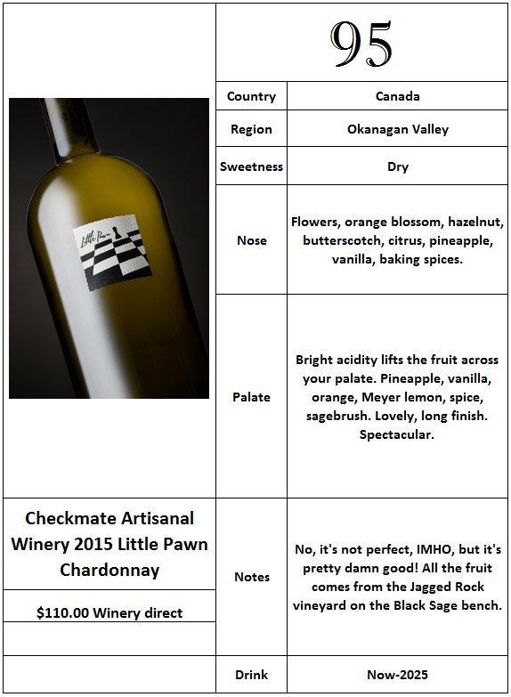 Checkmate 2015 Little Pawn Chardonnay