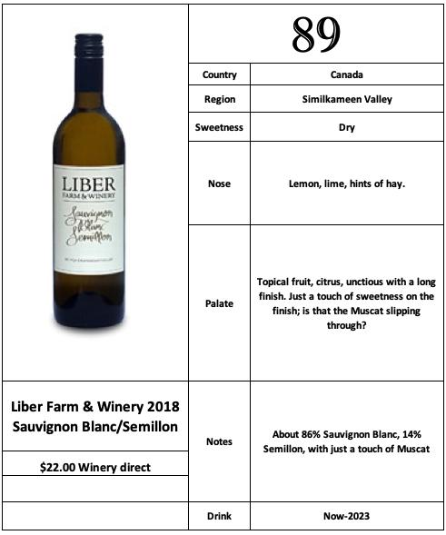 Liber Farm & Winery 2018 Sauvignon Blanc Semillon