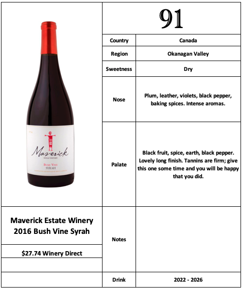 Maverick 2016 Bush Vine Syrah