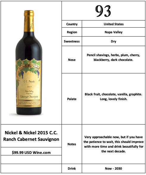 Nickel & Nickel 2015 CC Ranch Cabernet Sauvignon