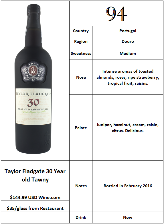 Taylor Fladgate 30 Year old Tawny