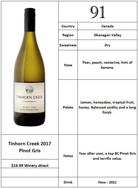 Tinhorn Creek 2017 Pinot Gris