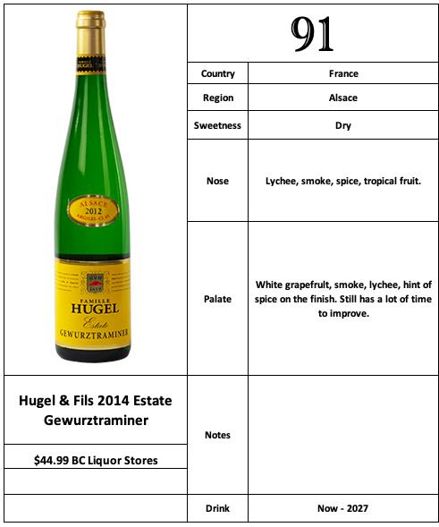 Hugel & Fils 2014 Gewurztraminer