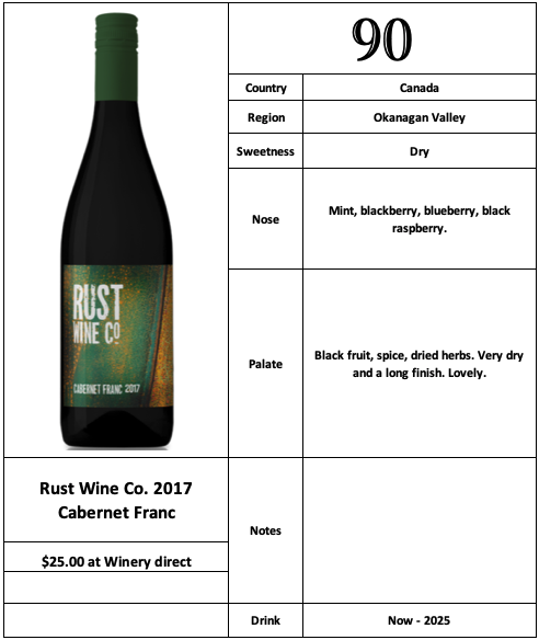 Rust Wine Co 2017 Cabernet Franc