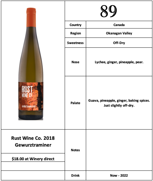 Rust Wine Co 2018 Gewurztraminer