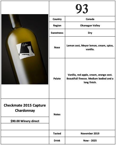 Checkmate 2015 Capture Chardonnay