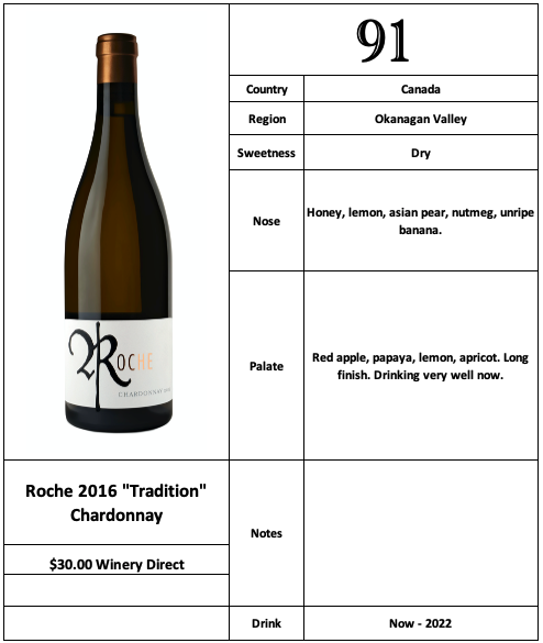 Roche 2016 Tradition Chardonnay