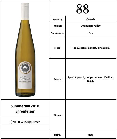 Summerhill 2018 Ehrenfelser