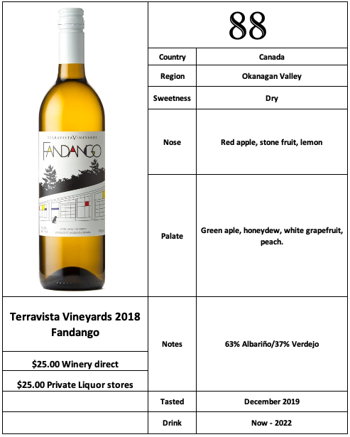 Terravista Vineyard 2018 Fandango