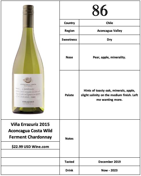 Viña Errazuriz 2015 Costa Wild Ferment Chardonnay