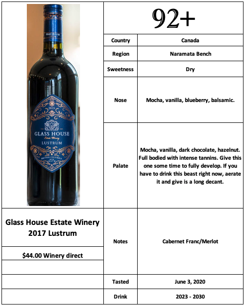 Glass House Estate Winery 2017 Lustrum