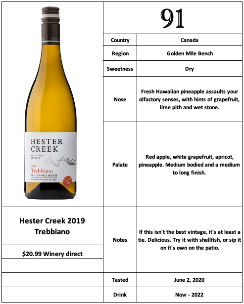 Hester Creek 2019 Trebbiano