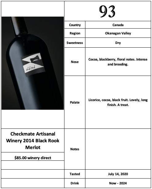 Checkmate 2014 Black Rook Merlot