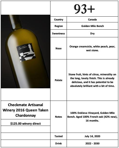 Checkmate 2016 Queen Taken Chardonnay