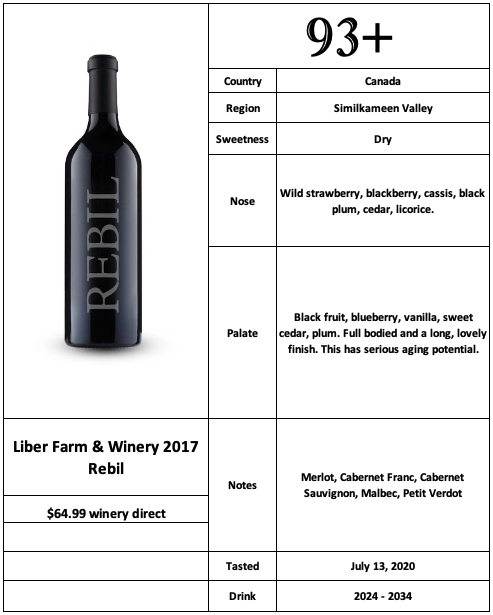Liber Farm & Winery 2017 Rebil