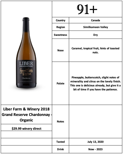 Liber Farm & Winery 2018 Grand Reseve Chardonnay