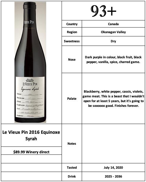 Le Vieux Pin 2016 Equinoxe Syrah
