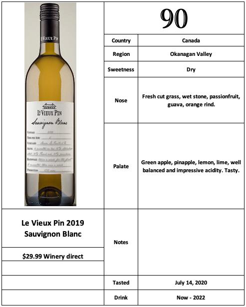 Le Vieux Pin 2019 Sauvignon Blanc