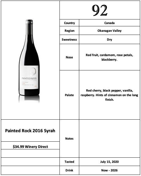 Painted Rock 2016 Syrah