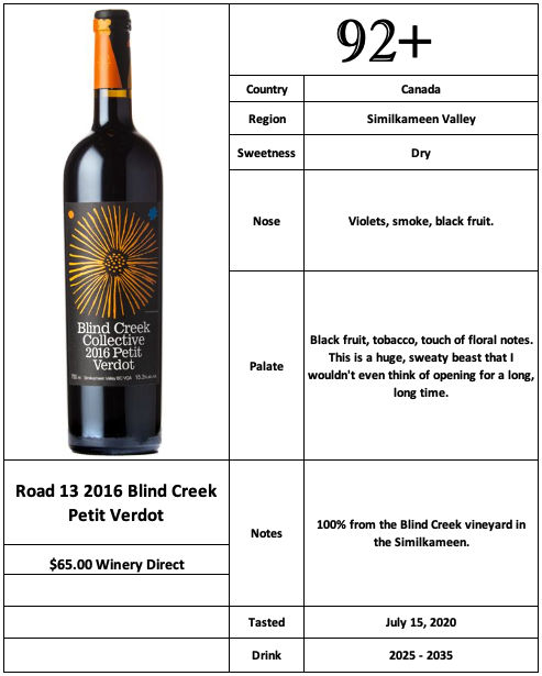 Road 13 2016 Blind Creek Petit Verdot