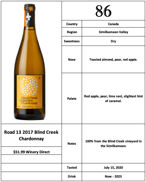 Road 13 2017 Blind Creek Chardonnay