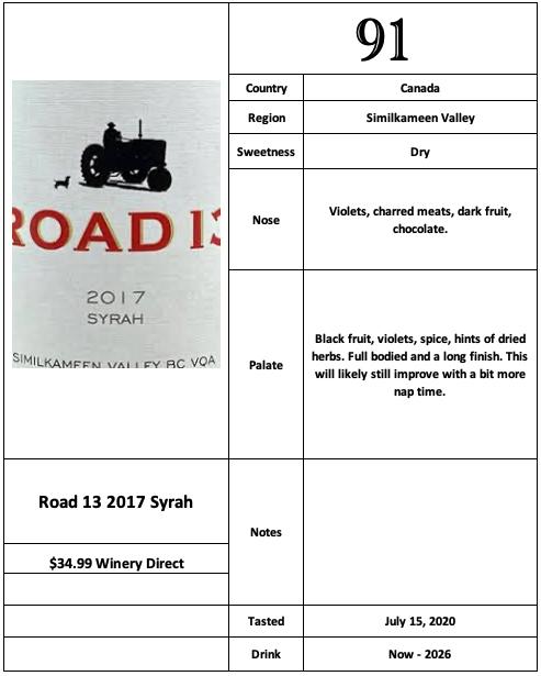 Road 13 2017 Syrah
