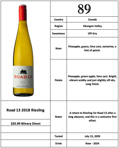 Road 13 2018 Riesling