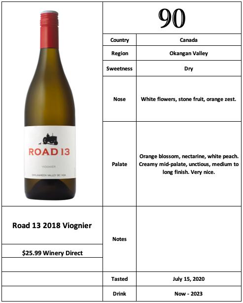 Road 13 2018 Viognier
