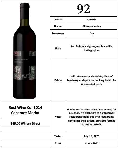 Rust Wine Co 2014 Cabernet Merlot