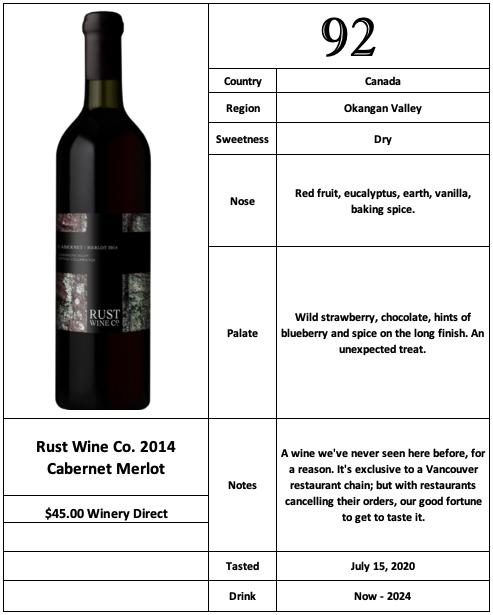Rust Wine Co 2014 Cabernet Merlot