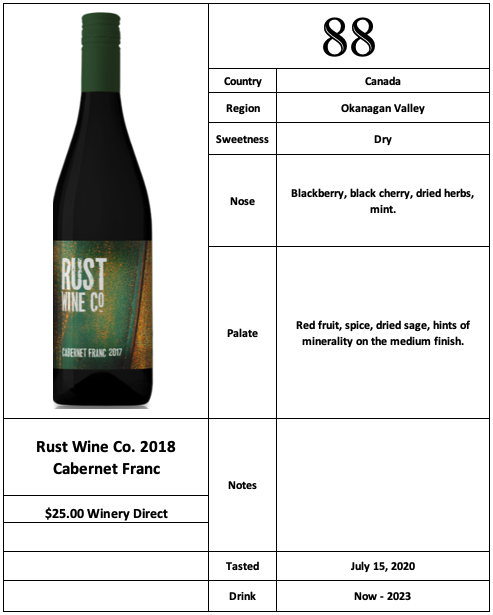 Rust Wine Co 2018 Cabernet Franc