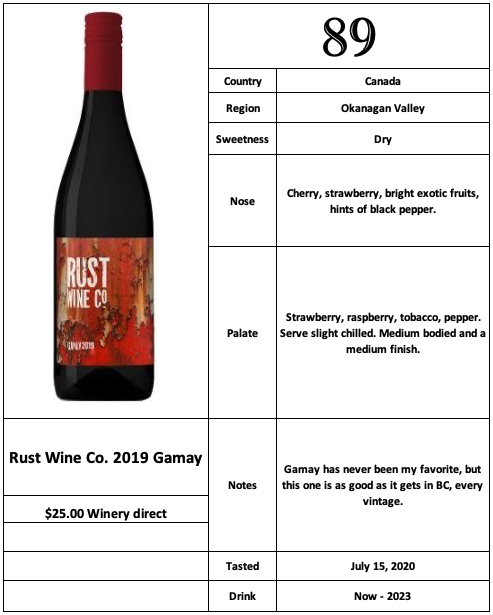 Rust Wine Co 2019 Gamay